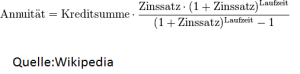 Formel für Annuitätendarlehen